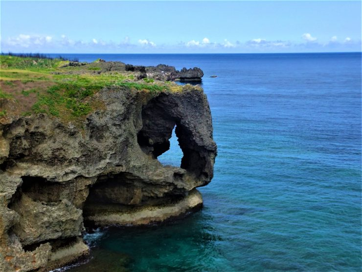 K in Motion Travel Blog. Scenic Cruise to Okinawa. Elephant Rock in Naha