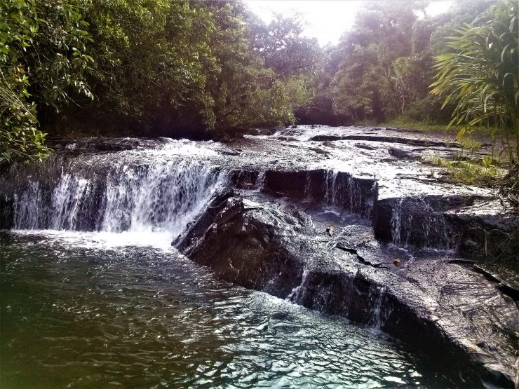 K in Motion Travel Blog. The Untouched Pacific Paradise of Palau. Mini Waterfall on the Way to Ngardmau Waterfall