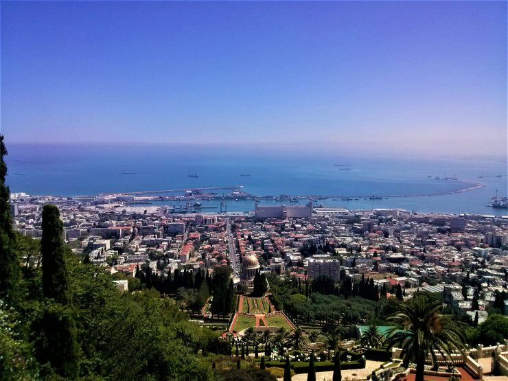 K in Motion Travel Blog. Historic and Natural Places to See in Northern Israel. View over Haifa Port