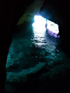 K in Motion Travel Blog. Historic and Natural Places to See in Northern Israel. Dim Cave at Rosh Hanikra