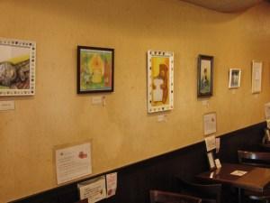 展示の様子 Books&Cafe Wonderland