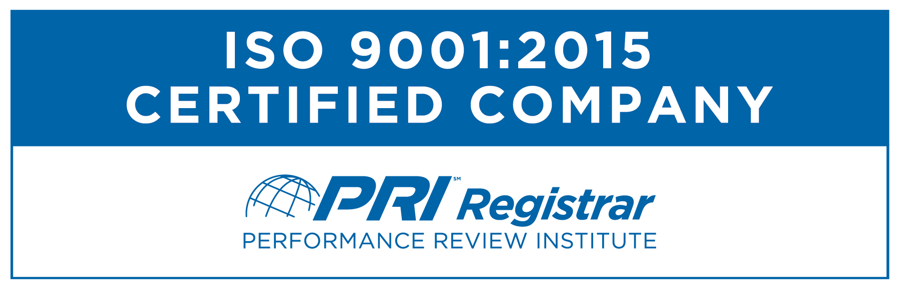 ISO 9001:2015 Certified Company