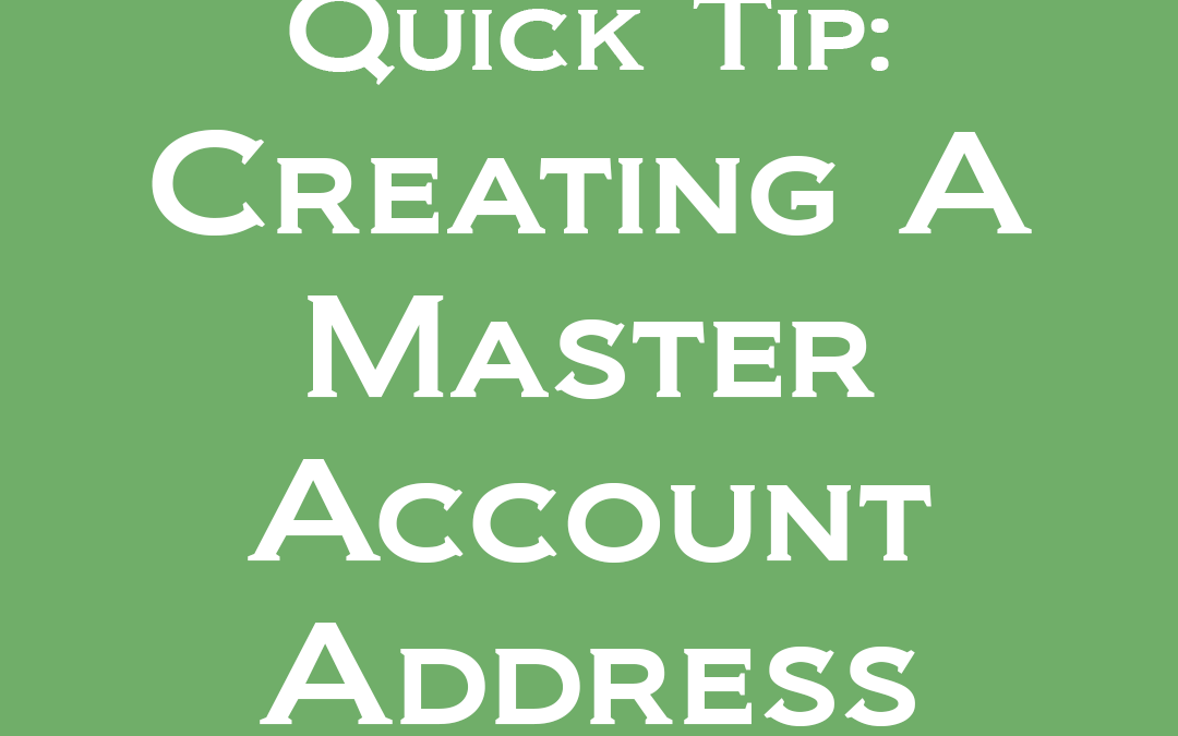 Getting Started: Creating a Master Account Address