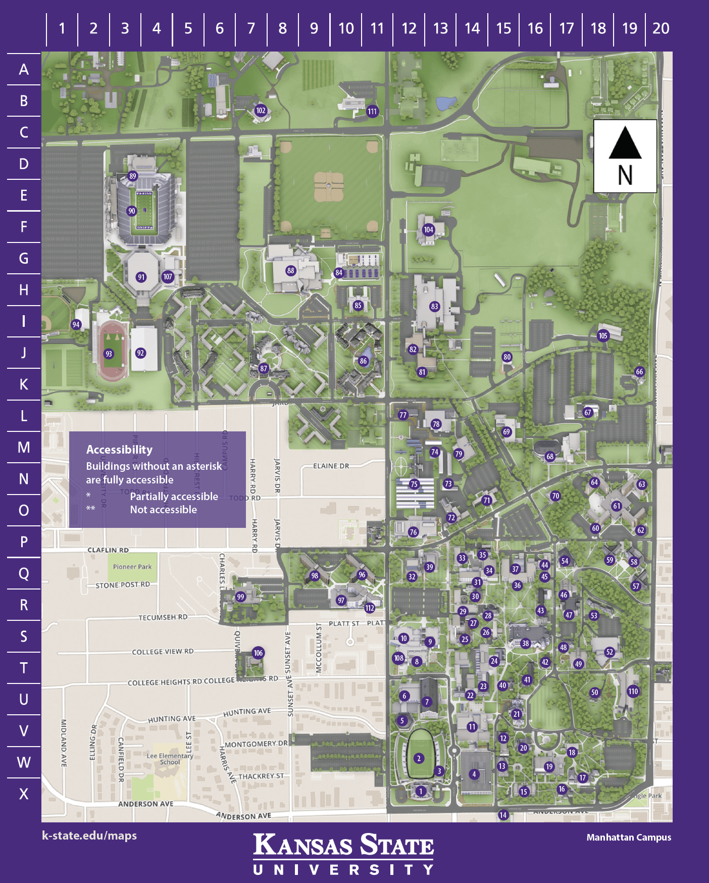 University Of Kansas Map : university, kansas, Campus, Kansas, State, Univeristy, Visitors, Guide