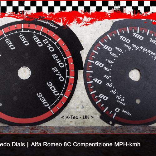 Tachoscheiben MPH-km/h und Tachoerweiterung