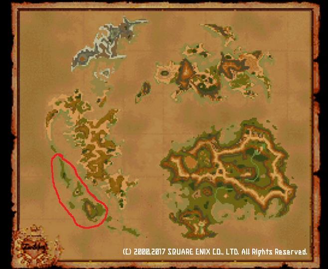 ワールドマップ南西の島々