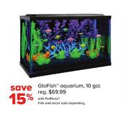 petsmart glofish aquarium 10