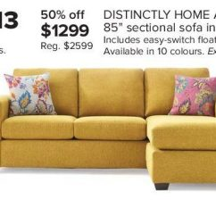 Gold Sectional Sofa Flexsteel Bexley The Bay Distinctly Home Andrea Ii 85 In 1299 00 50 Off