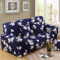Sofa Covers Online Dubai 8 Foot Slipcover Shop Deals For Less Two Seater Cover Blue White In