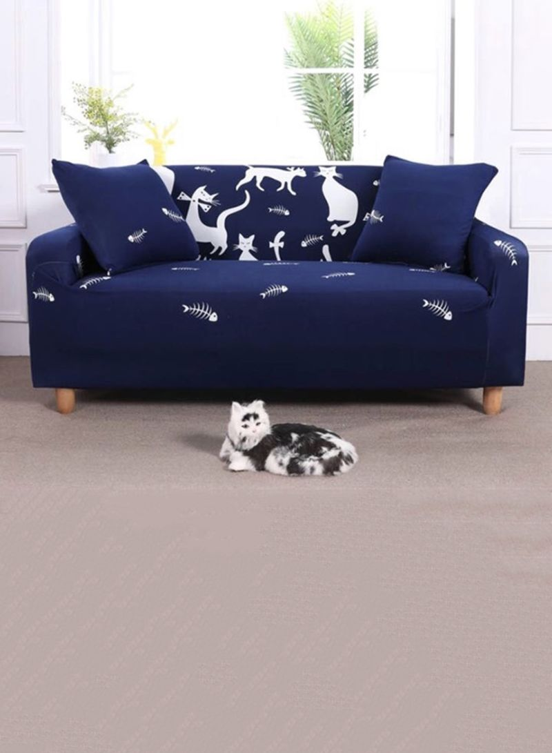 sofa covers online dubai roche bobois bed shop deals for less 3 seater cat design cover blue white 190x230 centimeter