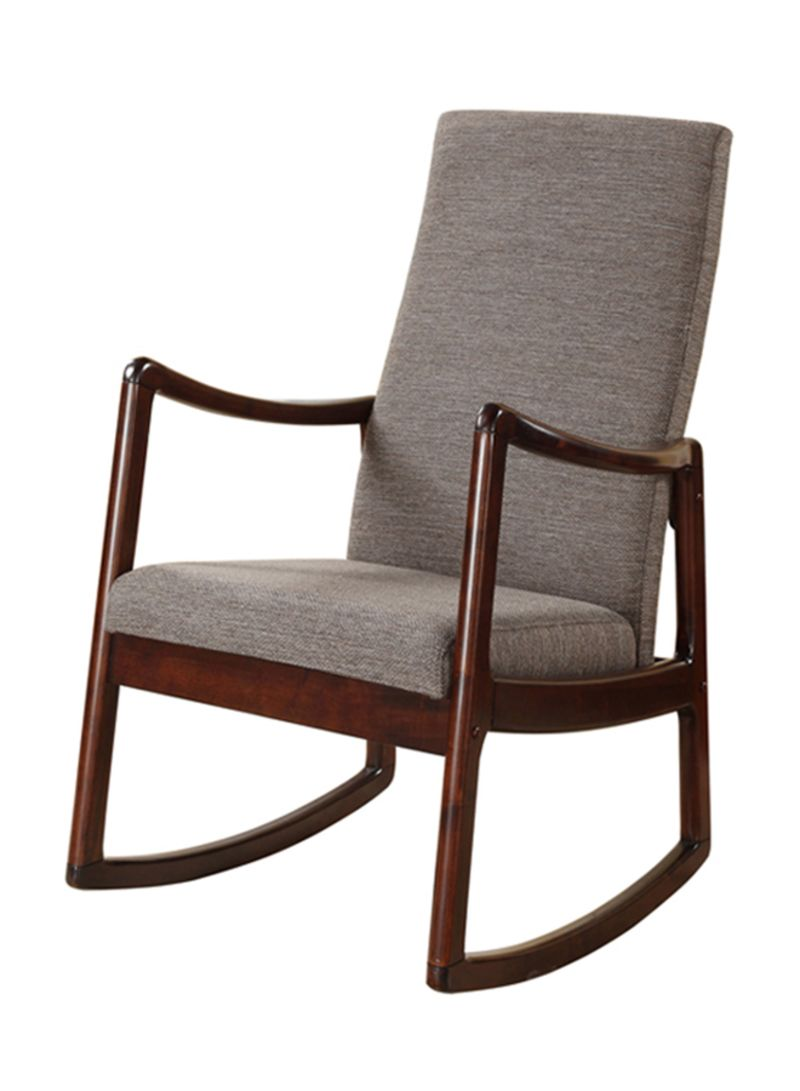 Cheap Rocking Chairs Shop Homes R Us Max Rocking Chair Espresso 84x75x30 Centimeter Online In Dubai Abu Dhabi And All Uae