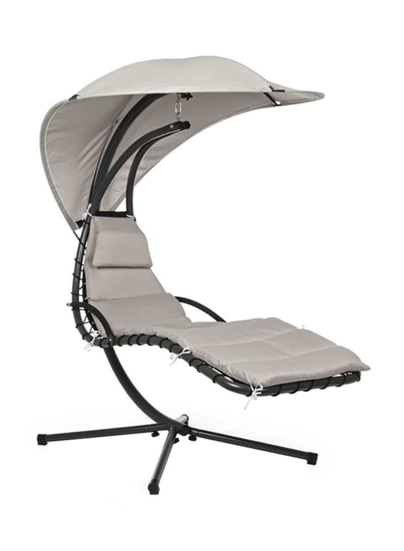hanging chair jeddah white plastic chaise lounge chairs shop paradiso with sunshade grey black 100x70x175 centimeter
