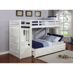 Shop Homes R Us Lily Twin Stairway Bunk Bed White 90 X 190 Cm Online In Dubai Abu Dhabi And All Uae
