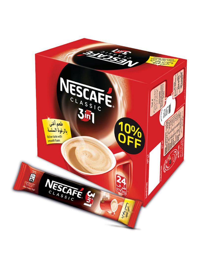 سعر حزمة من 24 3 كيس مزيج القهوة الفورية 1 في 1 20 غم فى