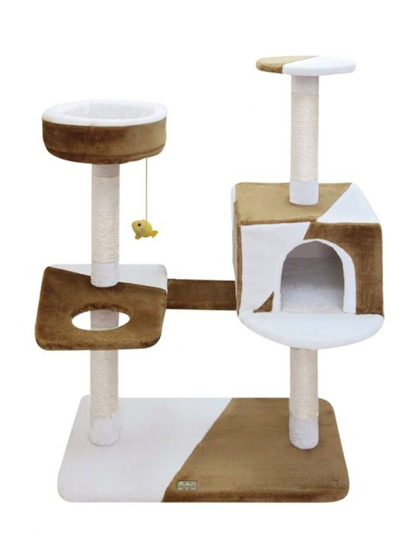 hanging chair jeddah overstuffed desk shop fauna camila cat pole with toys white brown online in