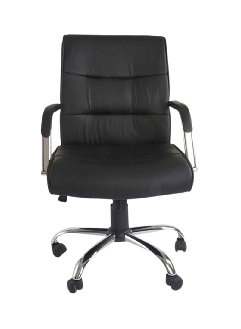 Low Back Office Chair Shop Mahmayi Nova Low Back Executive Chair Black Silver 109x50x51 Centimeter Online In Dubai Abu Dhabi And All Uae