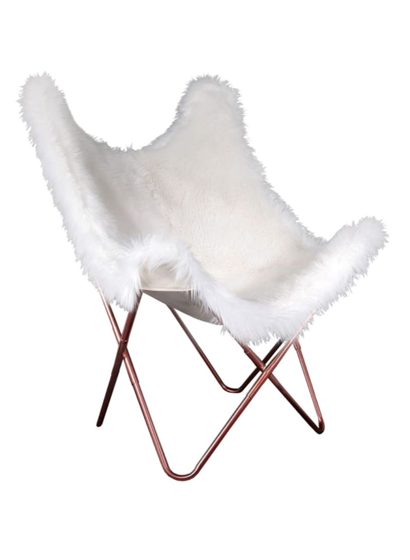 Fur Butterfly Chair Shop The Home Deco Factory Fur Butterfly Chair White Brown Online