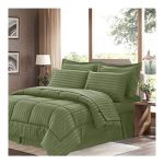 Shop Sweet Home Collection 8 Piece Bedding Comforter Set Sage Queen Online In Dubai Abu Dhabi And All Uae