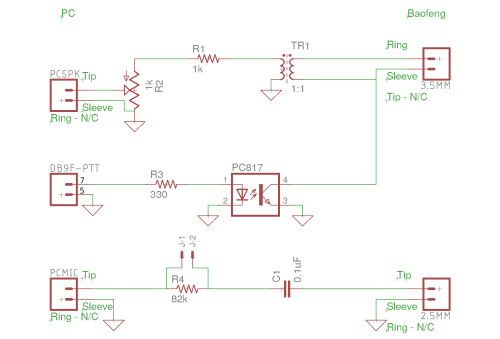 small resolution of soundcard interface including ptt for baofeng uv5r and other cheap handhelds