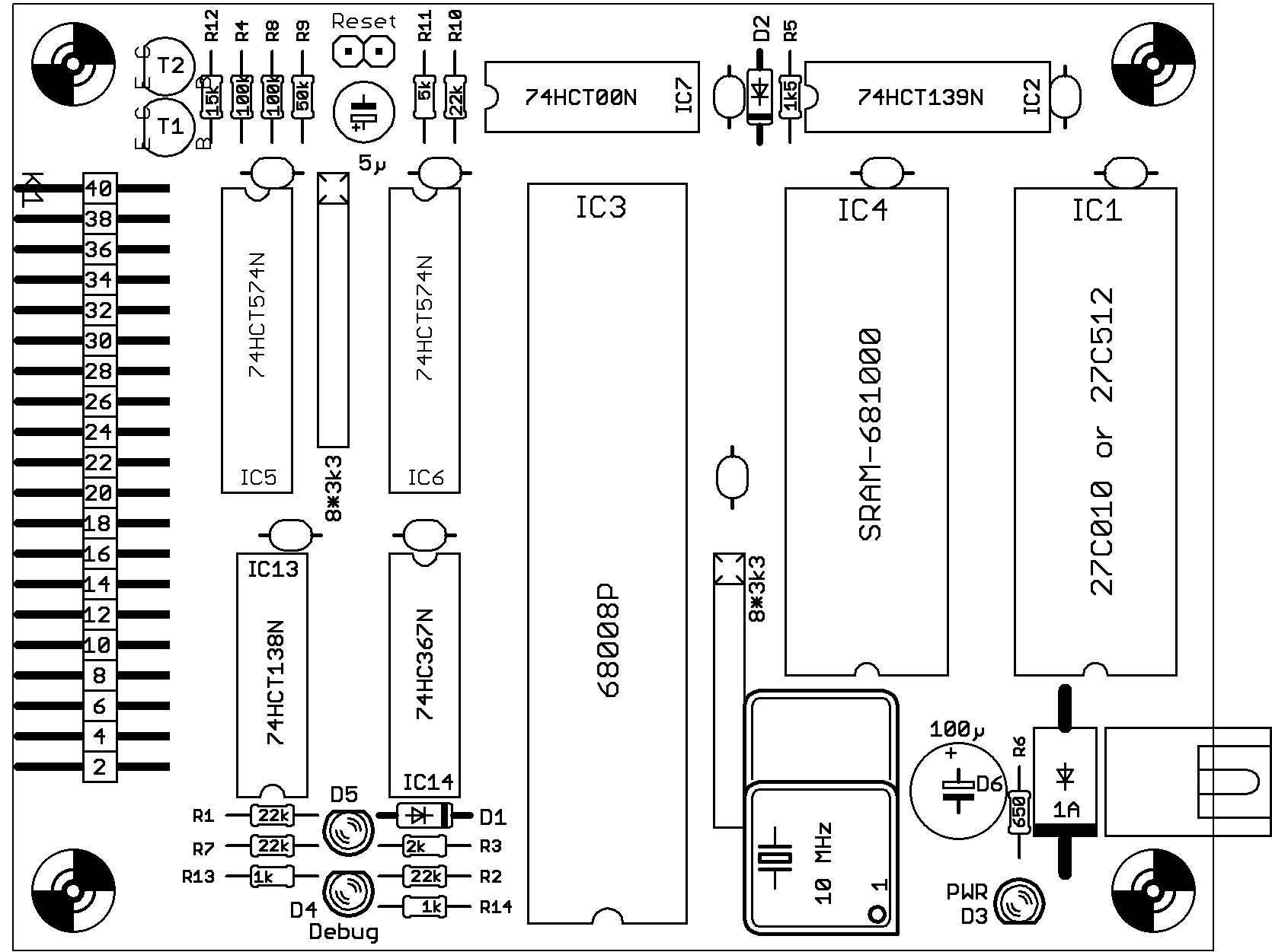 Simple 68008 Microcomputer with SRAM for the K1-Bus