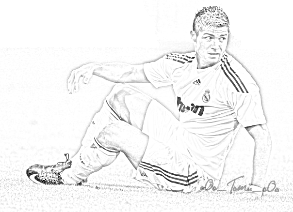 cristiano ronaldo coloring pages sketch coloring page