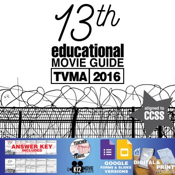 13th Documentary Movie Guide | Questions | Worksheet (TVMA - 2016) Cover