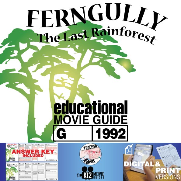 FernGully: The Last Rain Forest Movie Guide | Questions | Worksheet (G - 1992) Cover