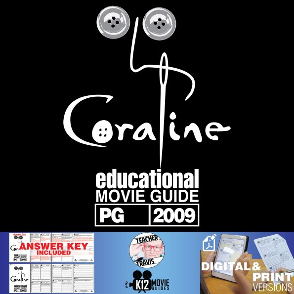 Coraline Movie Guide | Questions | Worksheet (PG - 2019) Cover