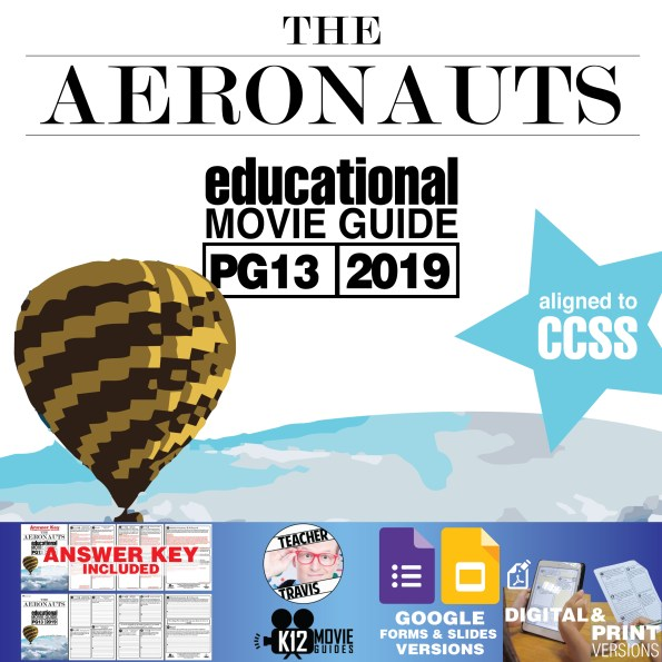 The Aeronauts Movie Guide | Questions | Worksheet (PG13 - 2019) Cover