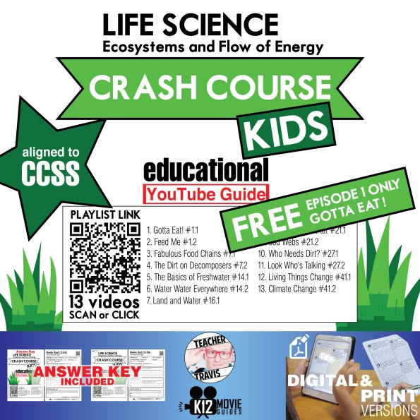 Crash Course Kids - Life Science Playlist - Gotta Eat! (E01) Youtube Guide Free Cover