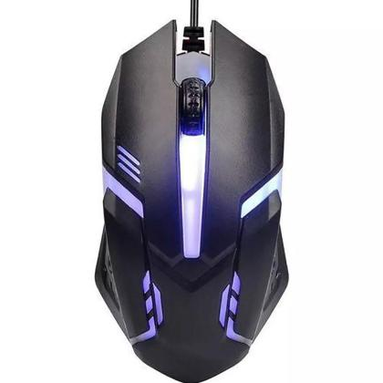 Black 7 Colour LED USB Wired Pro Gaming Mouse For PC Computer Laptop