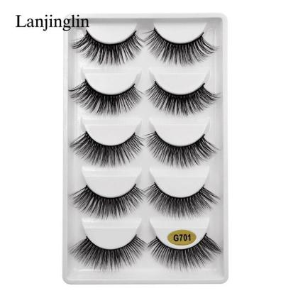 5 Pair of Artificial 3D Mink Eye Lashes Eyelashes