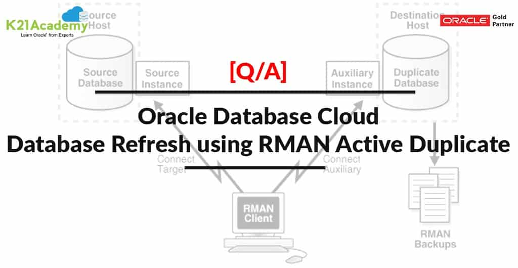 Database Refresh using RMAN Active Duplicate