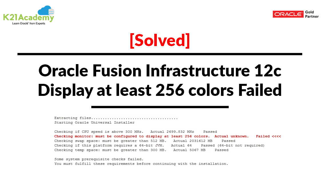 [Solved] Oracle Fusion Infrastructure 12c:Display at least