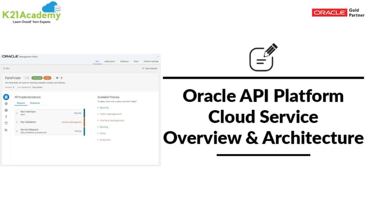 Oracle Api Platform Cloud Service Overview Architecture