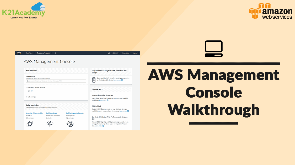 Management console aws