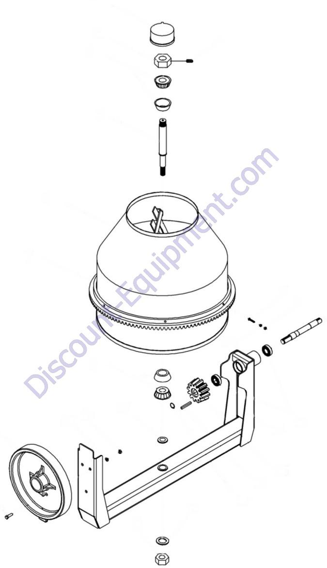 Stone Mixer Parts : stone, mixer, parts, Crown, 609492, Concrete, Mixer, Assembly, Parts, Discount-Equipment.com