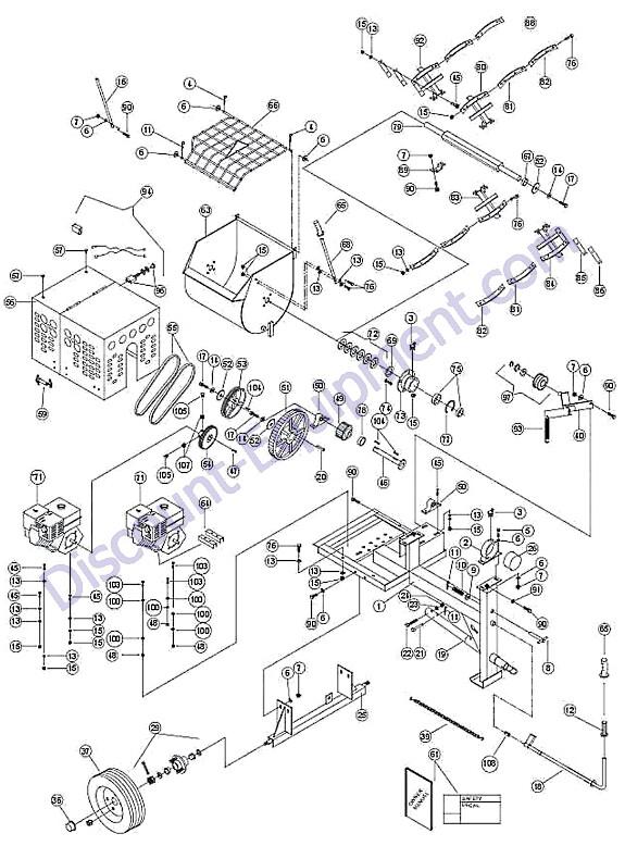 Stone Mixer Parts : stone, mixer, parts, Morrison, MM9H240, Mortar, Stucco, Mixer, Parts, Breakdown, Discount-Equipment.com
