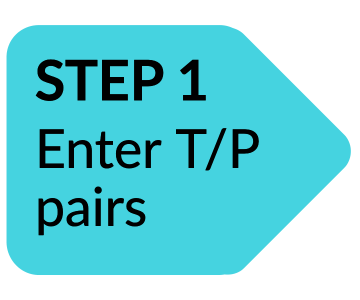 Arrow: Step 1 Enter T/P pairs