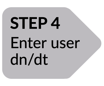 Arrow: Step 4 Enter user dn/dt