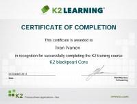 K2TrainingCertificate