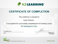 K2TrainingCertificate