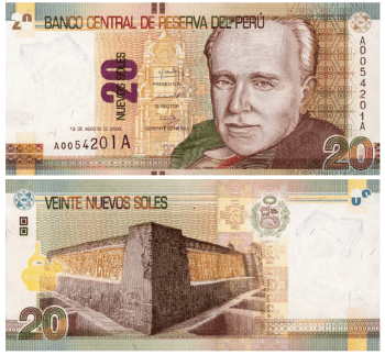 Peruvian bill of 20 soles