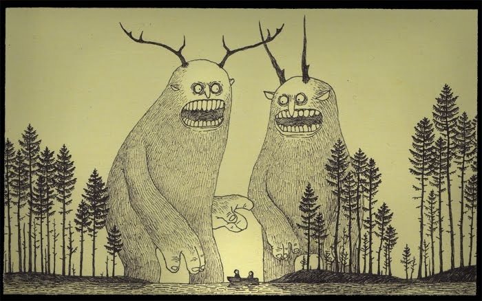 John Kenn, mini monstruos en Post-It