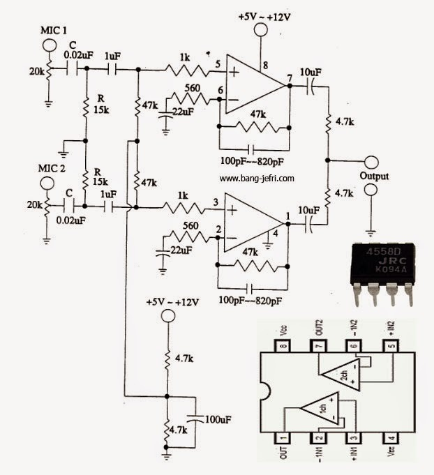 5532 Ic Mic Preamplifire Circuit