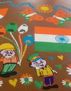 Independence day of india themed rangoli design also the ultimate list ideas for republic celebration  rh  craft