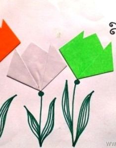 easy indian flag tricolour origami tulips and butterfly source treehut independence day kids craft also diy ideas for india republic rh  craft