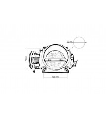 Throttle body TurboWorks Mitsubishi Lancer EVO 7-9 70mm