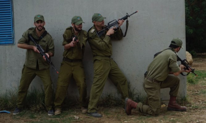 Reservists during the exercise