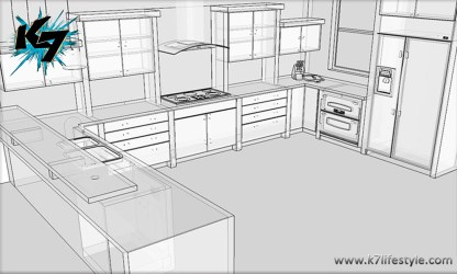Easy Kitchen Drawing
